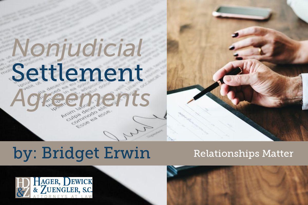 Nonjudicial settlement agreements