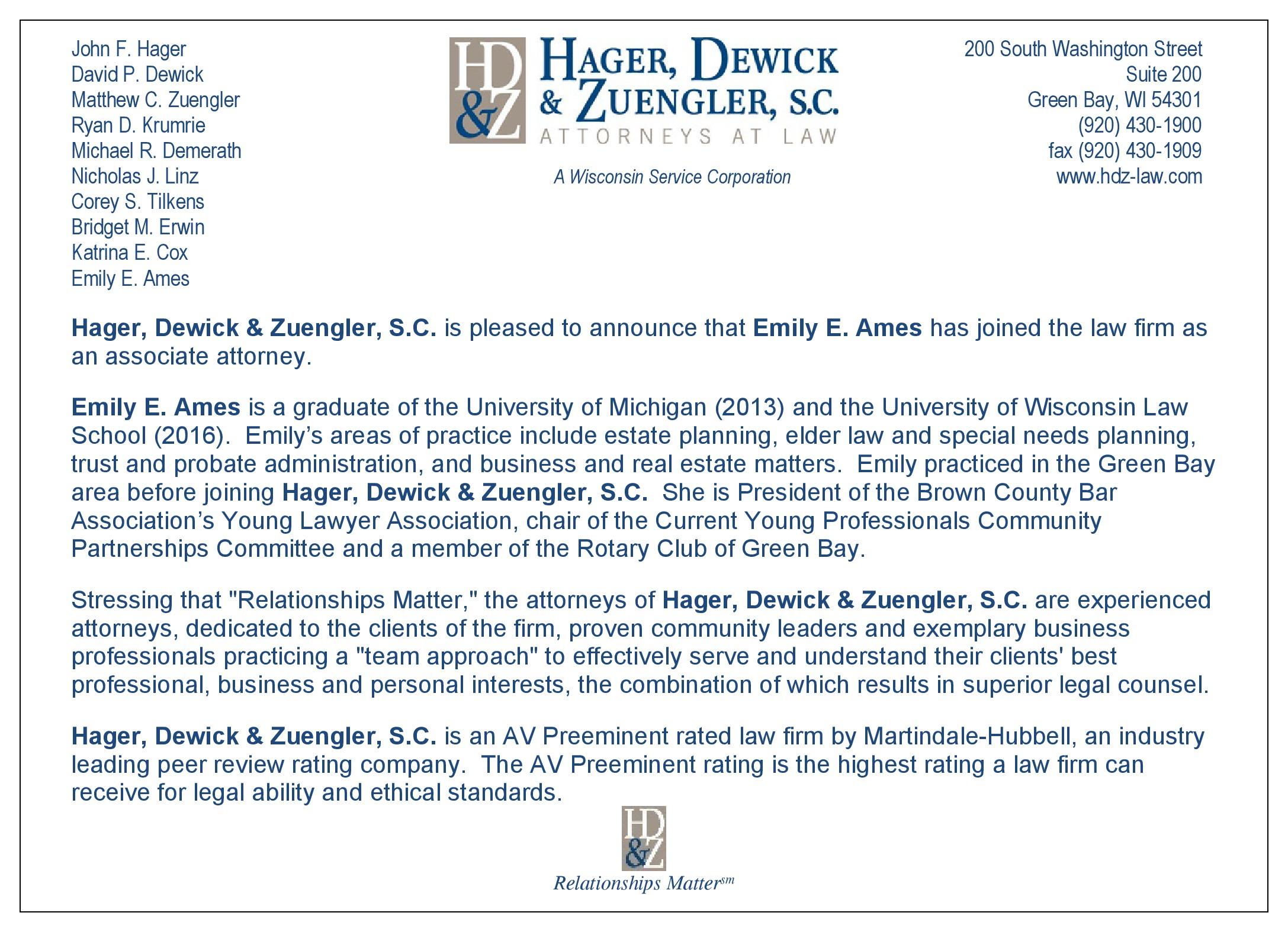Emily Aimes Announcement Card